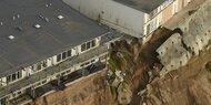 Winterstürme zerstörten Klippen in Kalifornien
