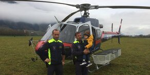 Kleinkind aus Unwetter-Gebiet geflogen
