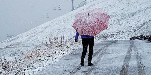 Regen und Schnee - So wird das Wetter am Dienstag