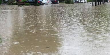 Hochwasser in Kössen / Tirol