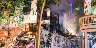 Bei einer Explosion in Columbia (USA) flog ein ganzes Haus in die Luft
