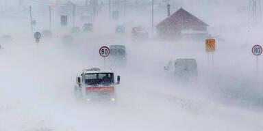 Schnee im Kosovo