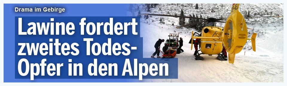 Lawine in Vorarlberg fordert zwei Tote