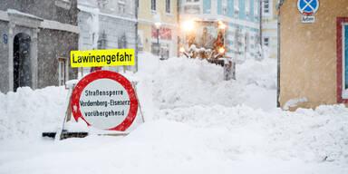 Schneemassen Winter Rekordschnee
