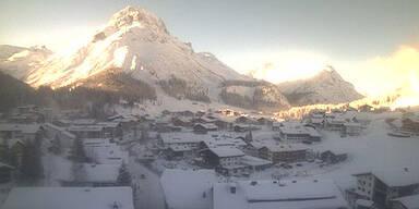 Lech am Arlberg ist der Kältepol Österreichs