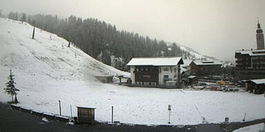 Schnee in Lech am Arlberg