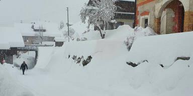 Enorme Schneemassen: Höchste Warnstufe für Teile Österreichs
