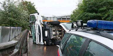 Betonmischer-Unfall