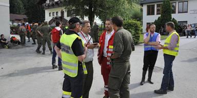 Aufräumarbeiten in St. Lorenzen