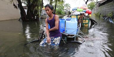 Manila überflutet