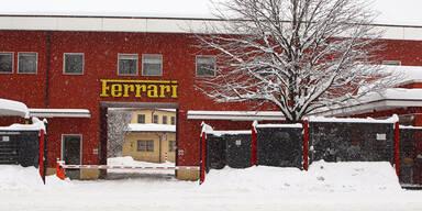 Ferrari-Hauptquartier eingeschneit