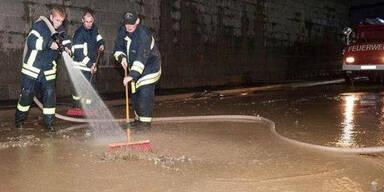 Überschwemmungen in Mauthausen