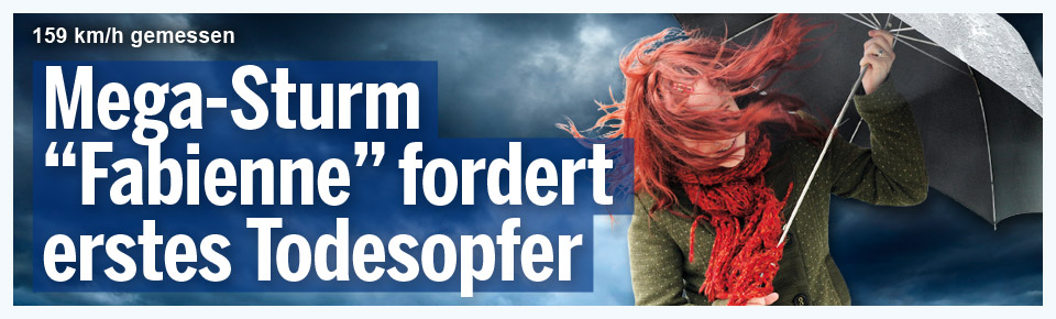 "Mega-Sturm ""Fabienne"" fordert erstes Todesopfer"