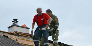 Unwetter-Schäden in Müllendorf (Burgenland)