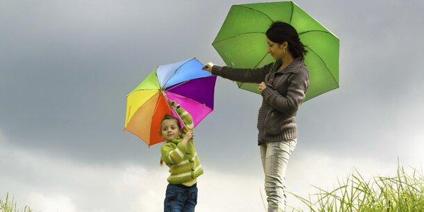 Gewitter und Regen zum Muttertag