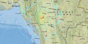 Schweres Erdbeben erschüttert Myanmar