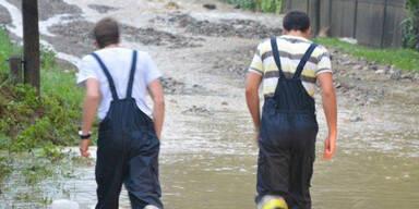 Hochwasser im Bezirk Neunkirchen
