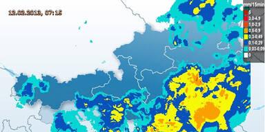 Niederschlagswarnung