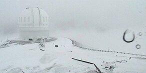 Fast 1 Meter Neuschnee auf Hawaii