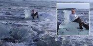 Oma will Urlaubsfoto und driftet mit Eisberg ab