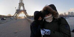 Kältewelle: Frankreich friert ein