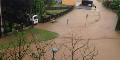 Hochwasser in Lamprechtshausen