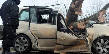 Drei Tote bei Unfall in Polen nach Orkan-Nacht