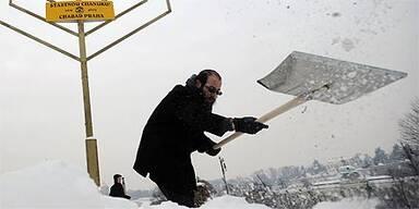 Prag Kälte Schnee