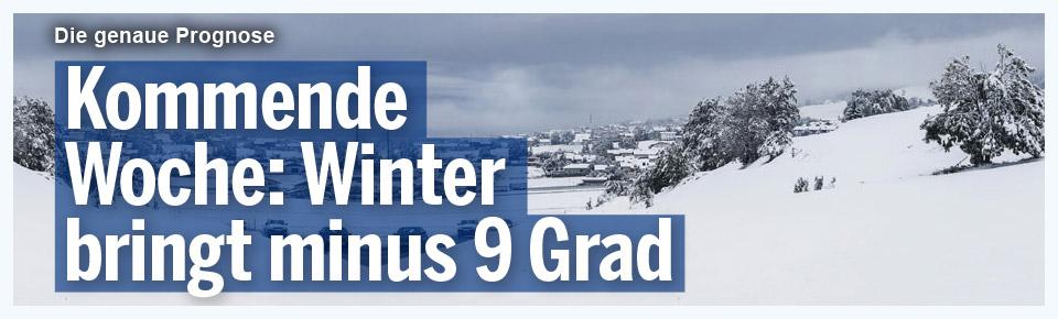 Winter bringt bis zu minus 9 Grad