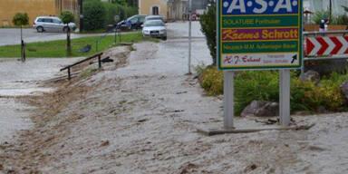 Überflutungen nach Unwetter
