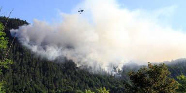 Waldbrand bei Bad Reichenhall