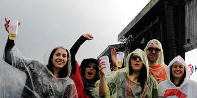 """Rock in Vienna"" wegen Unwetters unterbrochen"