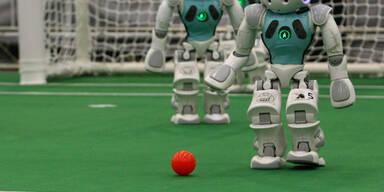 In China findet derzeit ein Roboter-Fußball-Turnier statt