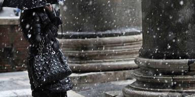 Schneefall in Rom
