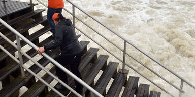 """""""Sandy"""" erreicht New York"""