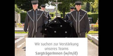 Netz witzelt über Job-Ausschreibung: Bestattung Wien sucht Sargträger