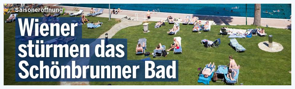 Wiener stürmen erstes offenes Freibad