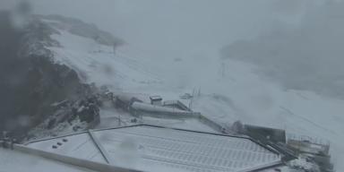 Erster Schneefall in Schladming