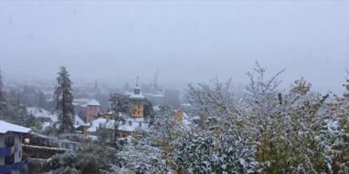 Schnee-Chaos in Teilen von Österreich