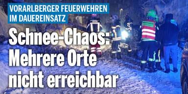 Schnee-Chaos in Vorarlberg