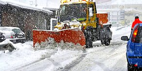 Schneewalze rollt über Österreich