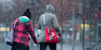 Auch in Berlin schneit es