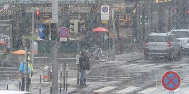 Schneetreiben in Wien