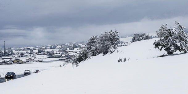 Wo es heute wie viel schneit