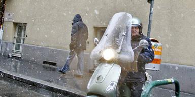 Erster Schnee in Wien