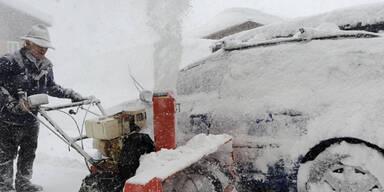Schneesturm über Österreich