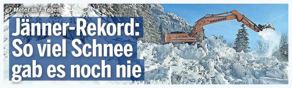 Jänner-Rekord: So viel Schnee gab es noch nie