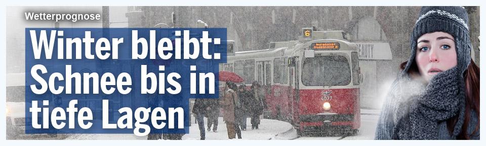 Winter bleibt: Schnee bis in tiefe Lagen