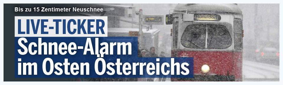 LIVE-Ticker: Schnee-Alarm in Österreich