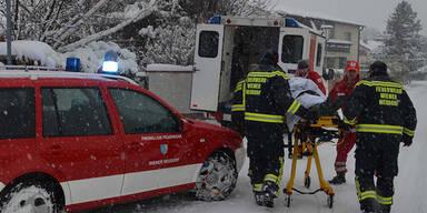 Österreich versinkt im Schnee